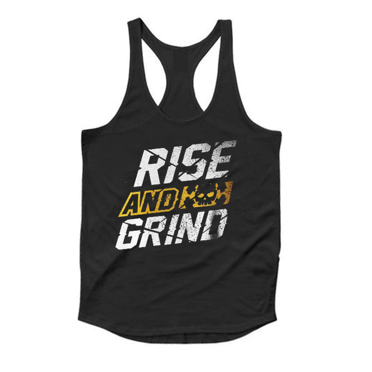 Rise And Grind Black Tank Top