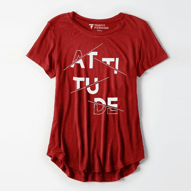 Attitude Red Women Tee - TeeFit Fashion