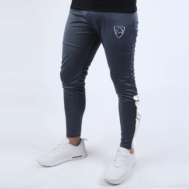 Charcoal Hawk Series Bottoms With White Bottom Panel