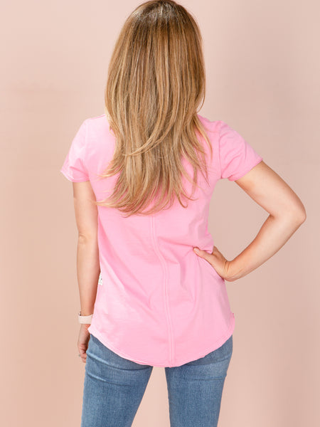 Fundamental Vee Tee - Bubblegum Pink