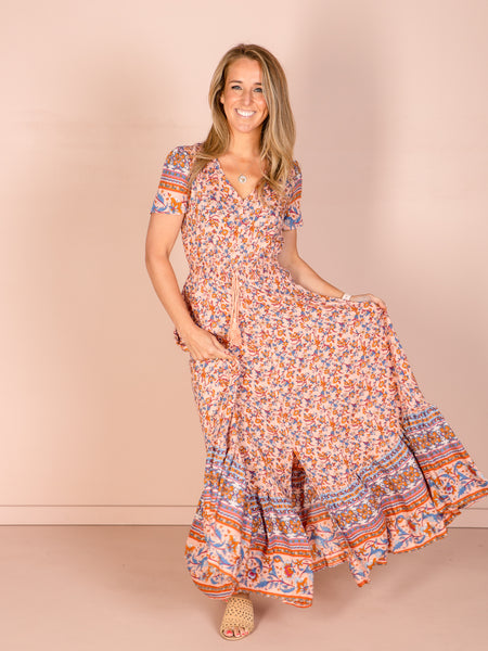 Charlie Maxi Dress - Multi Pink