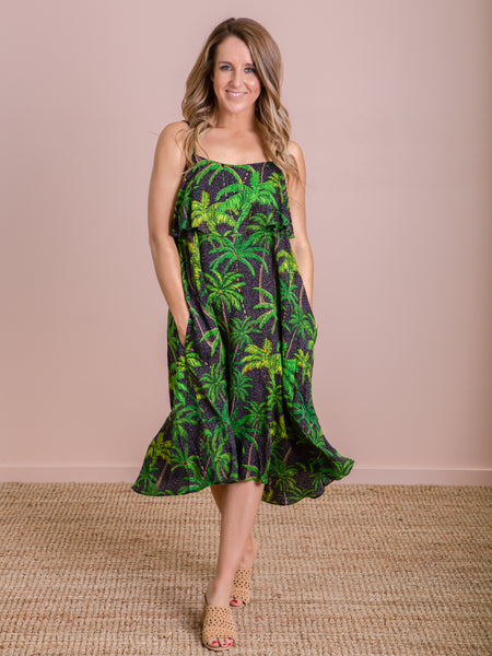 Paradise Dress - Black Palm