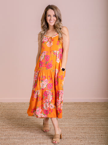 Ivy Palm Maxi Dress - Calypso
