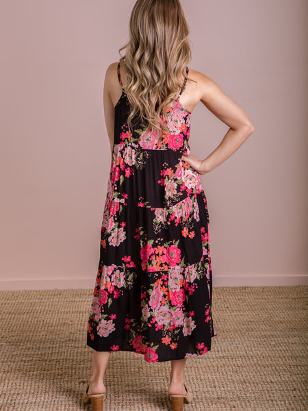 Ivy Palm Maxi Dress - Bubblegum