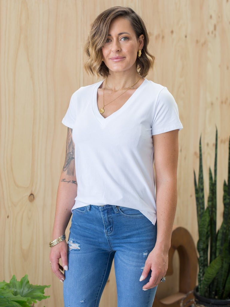 Jane Plain T-Shirt - White