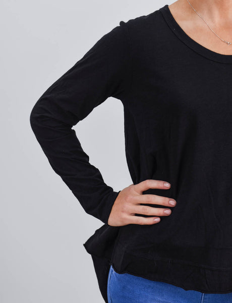 Willow L/sleeve Tee Black
