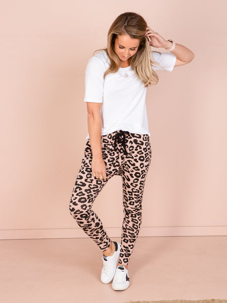 Mila Slouch Joggers Blush