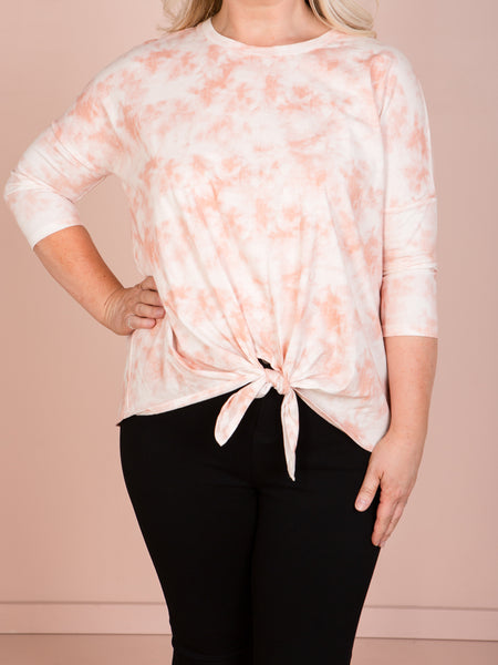 Ivy Knot Top - Malibu Marble
