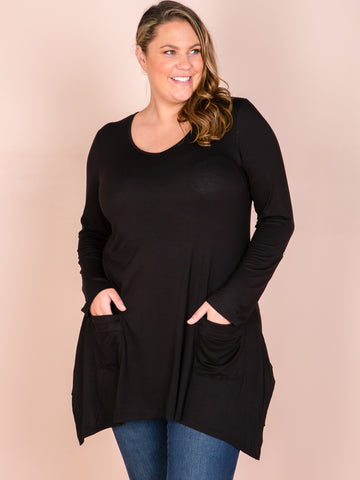 Muse V Pocket Top - Black