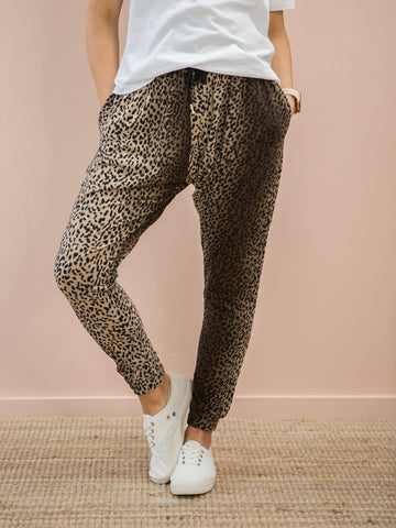 Nala Slouch Trackies Brown