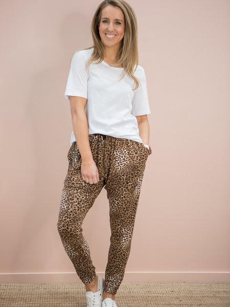 Nala Slouch Trackies Tan