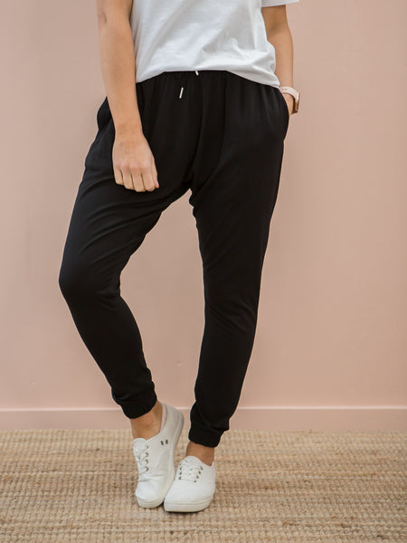 Nala Slouch Trackies Black