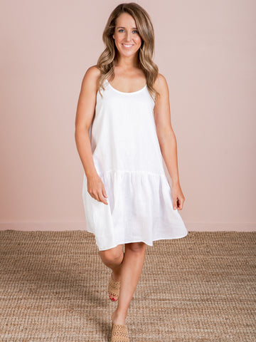 Majorca String Dress - White