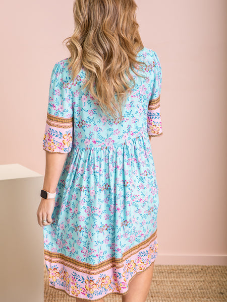 Ella Dress - Turquoise