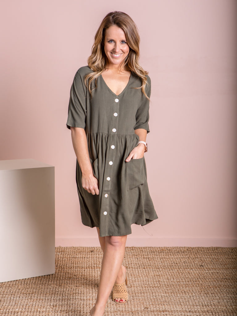 Isla Dress - Khaki