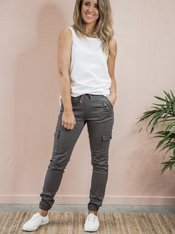 Jenni Joggers Grey *LONGER LENGTH*