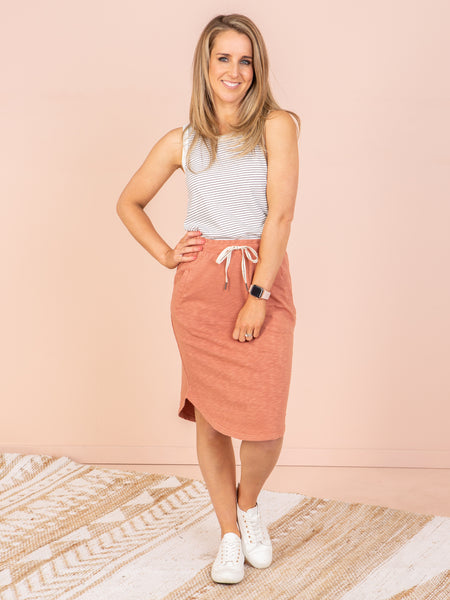 Elm Isla Skirt - Terracotta
