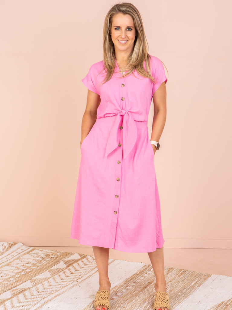 Stevie Dress - Hot Pink