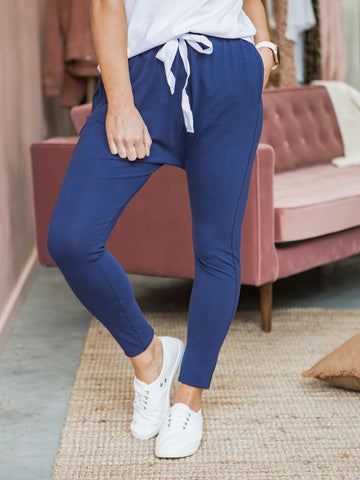 Drew Slouch Pants - Navy