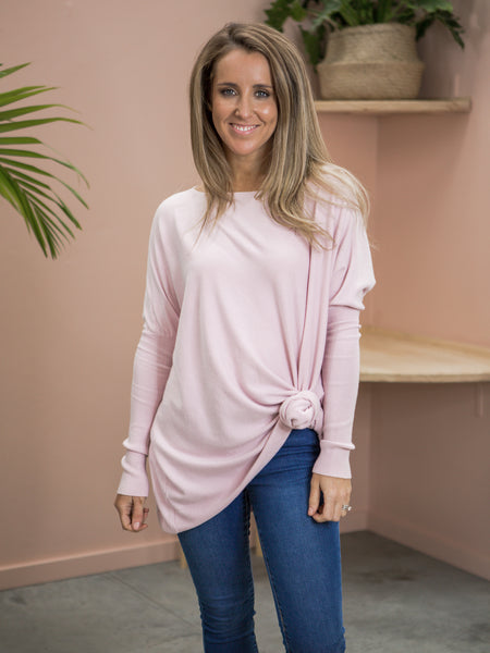 Martha Knit Jumper - Baby Pink