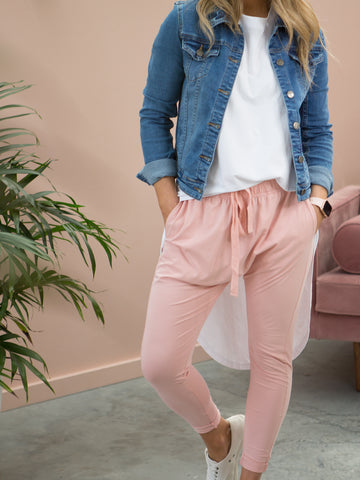 Drew Slouch Pants Blush