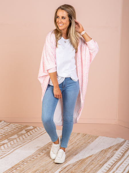 Casey Cape - Multi Pink
