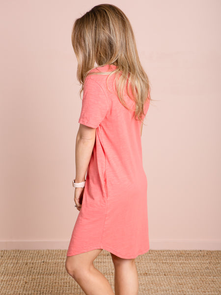 THE T-Shirt Dress - Coral
