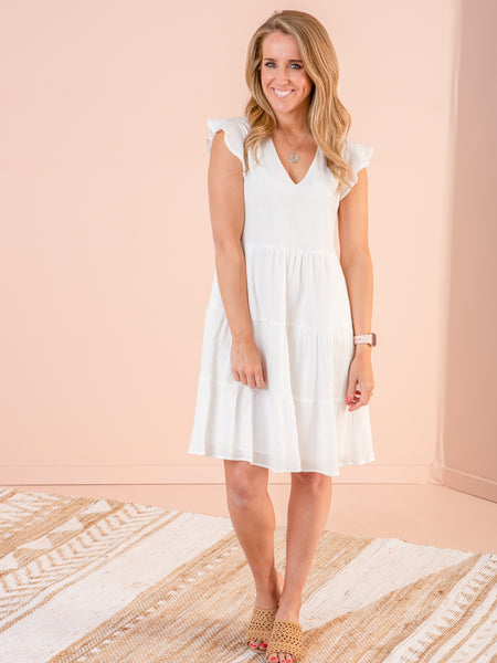 Skyler Dress - White