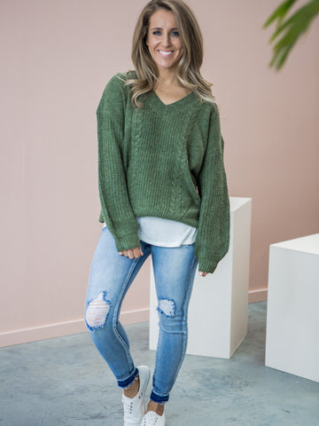 Betty Knit Jumper - Green