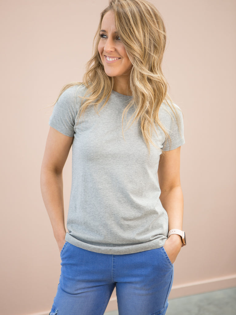 Natty Round Neck Tee Grey