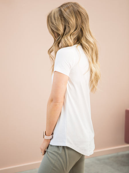 Lucy V-Neck Tee White