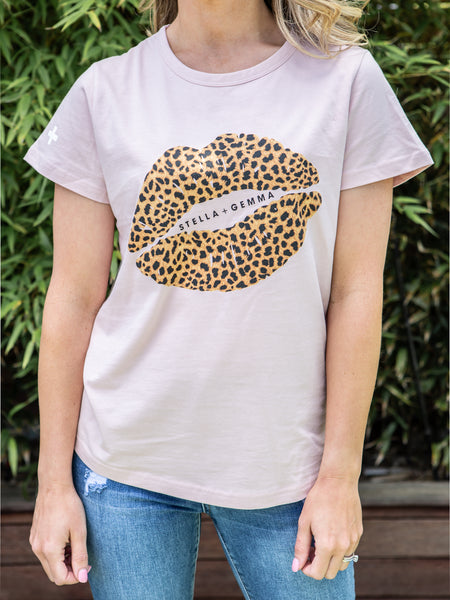 Cheetah Lips Dusky Rose Tee