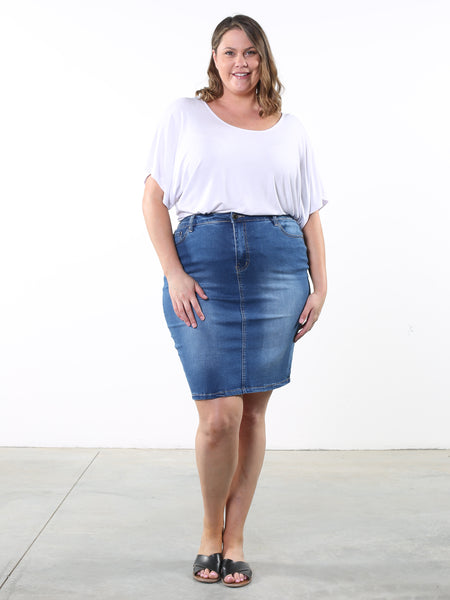 Nikki Denim Midi Skirt