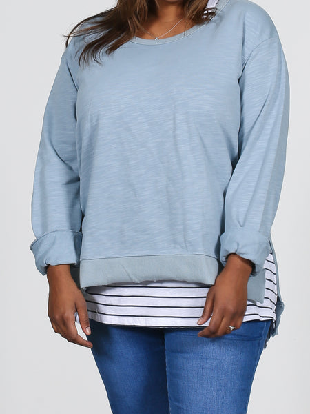 Ulverstone Sweater - Duck Egg Blue