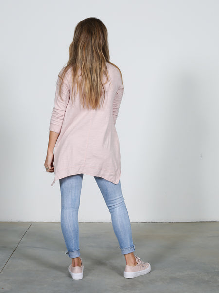 Willow L/Sleeve Tee - Blush Marle