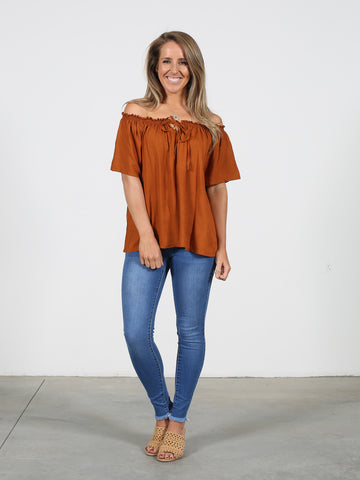 Savannah Top - Rust