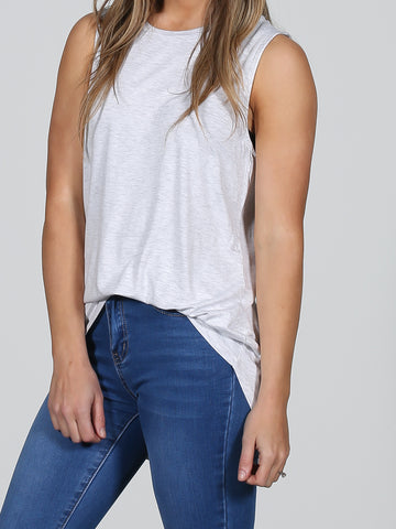 Heather Capri Tank - Grey