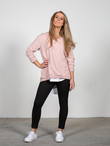 Newhaven Sweater - Blush Marle