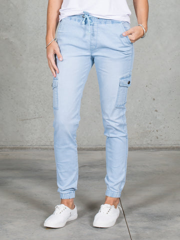 Jenni Joggers Light Blue *LONGER LENGTH*