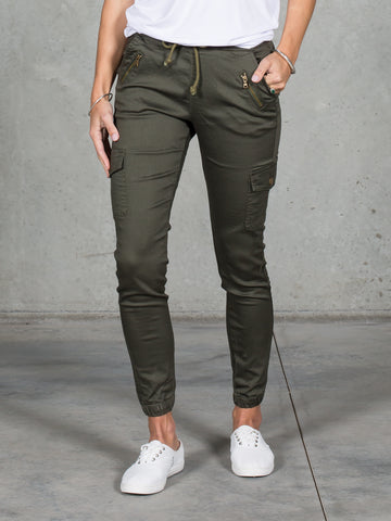 Jenni Joggers Khaki *LONGER LENGTH*