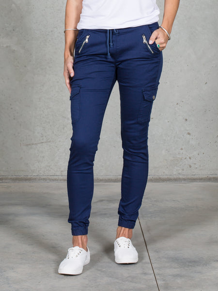 Jenni Joggers Navy *LONGER LENGTH*