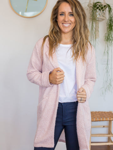 Laura Cardigan - Blush Fleck