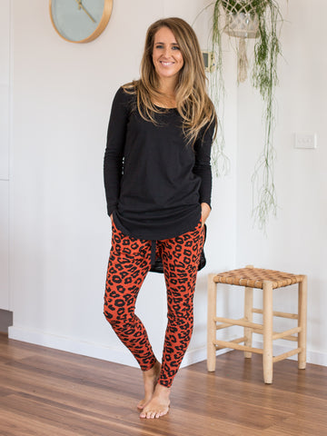Mila Slouch Joggers Rust