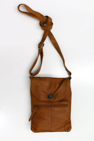 Tayla- Lock Sling Bag Tan