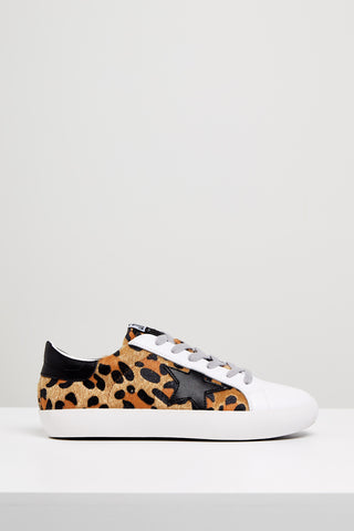 Kobi Leather Sneaker- Leopard/Black Star