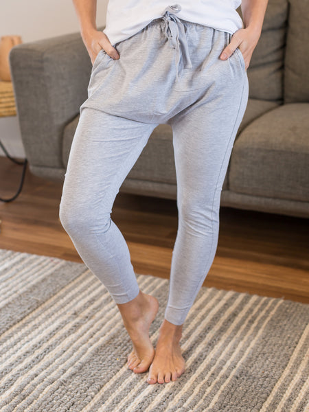 Drew Slouch Pants Grey Marle