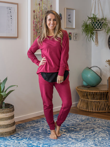 Lindsay Jogger Wildberry