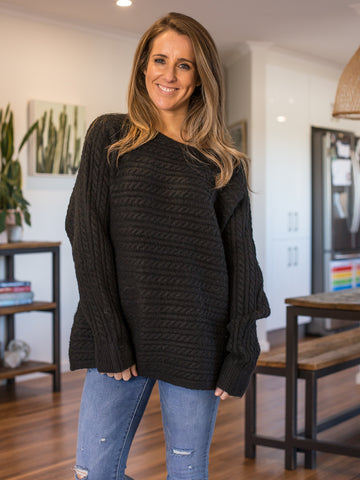 Cosy Knit Black