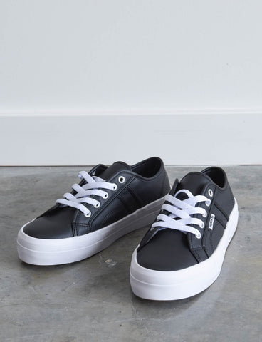 Cass Black Leather sneakers