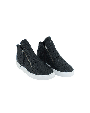 Asher Heeled Sneaker - Black